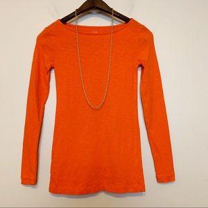 J.crew Orange Longsleeves Tunic Top Size XXS